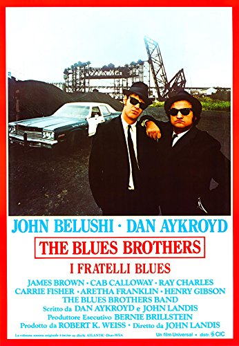 POSTER MANIFESTO ORIGINALE CINEMA - The blues brother - Dimensione 70x100cm