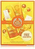 The Body Shop - Colección Vitamina C - Spray facial revitalizante + Microdermoabrasion + Hidratante facial diaria + Exfoliante facial - 100 + 75 + 30 ml