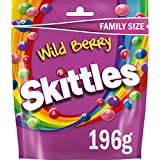 Skittles Sweets, Wild Berry Chewy Sweets Pouch, 196 g