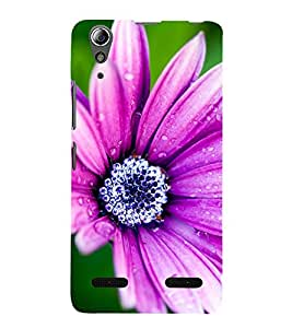 99Sublimation water Drop on Purple Flower 3D Hard Polycarbonate Back Case Cover for Lenovo A6000 Plus