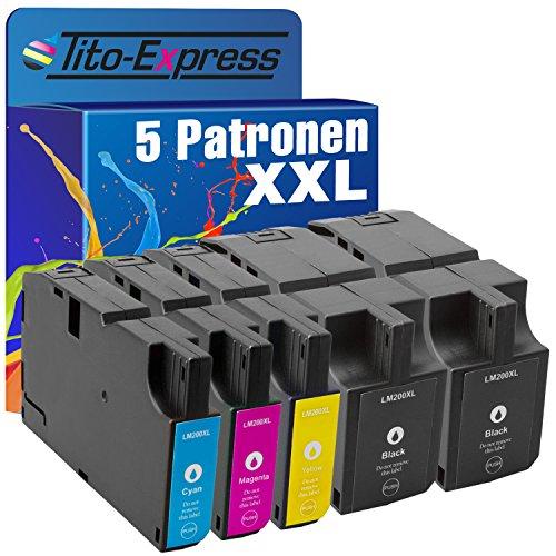 Preisvergleich Produktbild PlatinumSerie® 5x Druckerpatrone XXL mit Chip für Lexmark 200 XL 210 XL OfficeEdge Pro 4000 OfficeEdge Pro 5500