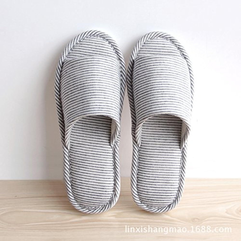 Home zapatillas Zapatillas casa piso antideslizante pantuflas casa chica otoño invierno lencería suave, la armada...