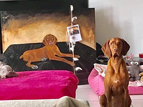 Hund Katze Maus Tierportrait in Acryl auf 140x 100 cm 3D Keilrahmen nach Fotovorlage