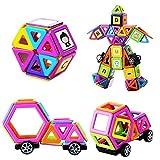 Muitobom, magnetisches Bausteine-Set, 72Teile, Bildungsspielzeug für Kinder mit Buchstaben und Zahlen-Aufklebern