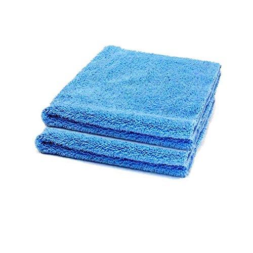 2x-Microfaser-Auto-Trockentuch-Randlos-Set-Wsche-Reinigung-Politur-Von-Autoscar-40-x-40-cm-Blau-Zwei-Unterschiedliche-Seiten-Ohne-Rand-Mikrofaser-Reinigt-Trocknet-Pflegt-Sanft-Ohne-Kratzer