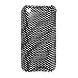 Disque Plasitc noir et blanc Case Grille Imprimé pour iPhone 3G