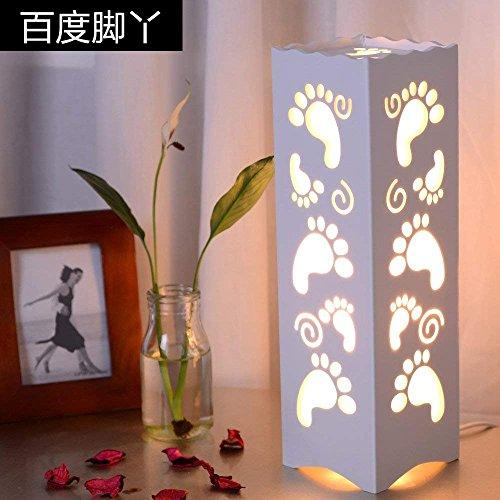 WXBW Tischleuchte-Simple LED europäischen Studie Wohnzimmer Schlafzimmer Nachttischlampe geschnitzt Mode kreative Dekoration Dekoration Energiesparlampen dimmbar,C Druckknopfschalter -