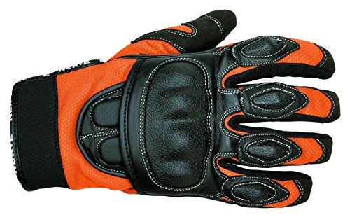 NERVE 1513120109_02 Guanti Estive Protettivo Sporty per Moto Scooter, Nero/Arancione, S/8