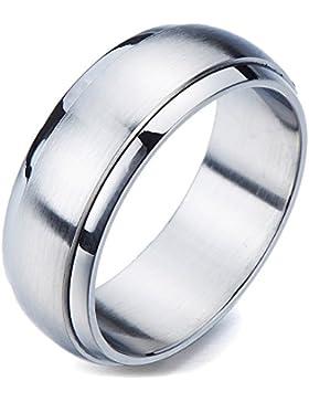Minimalistisch ¨C Damen-Ring- Herren-Ring- Unisex- Edelstahl- Drehring- Passform