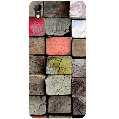 Casotec Wood Lumber Paint Design Hard Back Case Cover for HTC Desire 728G