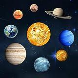 Luminoso Adesivo da parete, Gspirit Si illuminano al buio 9 pianeti Solare Sistema Modello Parete Decorazione per bambini Camera da letto vivente Camera