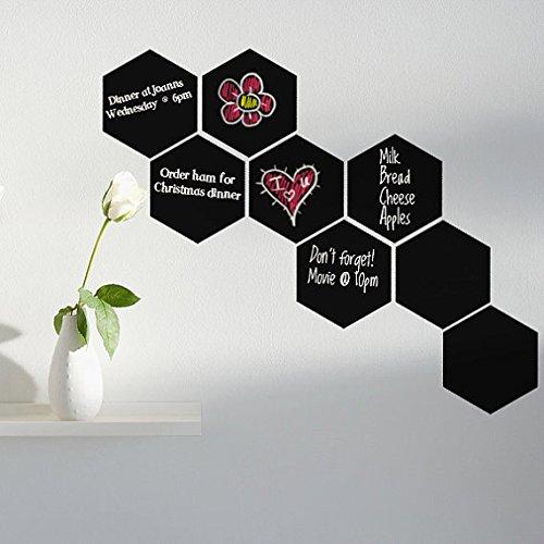 yanqiao 4/Set Sechseck Tafel Kreidetafel Label Wand Aufkleber Abnehmbar Vinyl Aufkleber Art Home Dekorieren 1Größe 20,1x 23,1cm schwarz schwarz Cars Film-wand-aufkleber