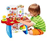 ZZ ZONEX Supermarket Shop 34 Pcs with Sound Effects About the Product:- Perfect starter supermarket play set, comes complete with a wide variety of food items, from fruits and veggies to snacks and dessert making a total of 34 items. Children love pr...