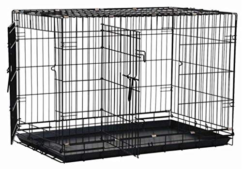 Artikelbild: Precision Pet Hundekäfig mit zwei Türen, Schwarz