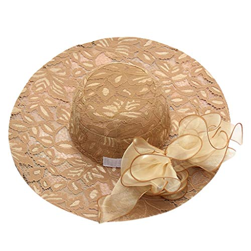 MMOOVV Damen Party Kleider Braut Tee Party Hochzeit Hüte (Khaki) (Kentucky Lustig, Hüte Derby)