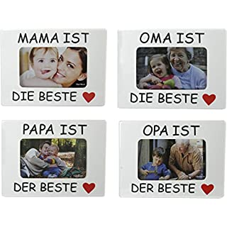 Bilderrahmen Fotorahmen Oma Opa Mama Papa ist der beste für 10 x 15cm Foto (MAMA IST DER BESTE)
