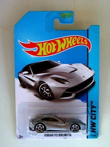 Ferrari F12 Berlinetta (Silver) Diecast Car (Hot Wheels)(2013) by Hot Wheels
