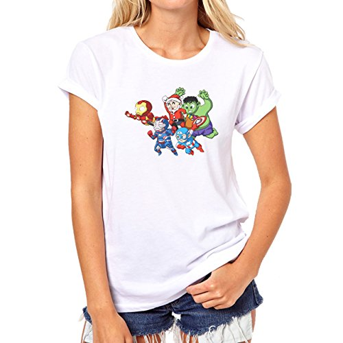 The Avengers Its Christmas Time Animated Damen T-Shirt Weiß