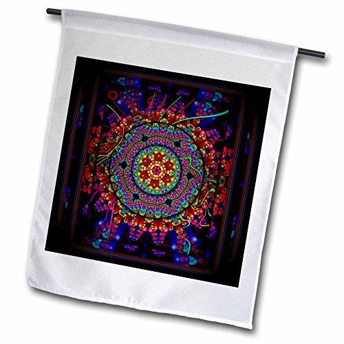 "3drose FL _ 24832_ 5,1cm Mandala 4Indien Buddhismus Hinduismus New Age Harmony Balance Meditation ""Garten Flagge, 45,7x 68,6cm"
