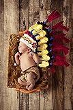 Jastore ® Foto Fotografie Prop Baby Kostüm Nette Indianer häkel Stricken Handarbeit