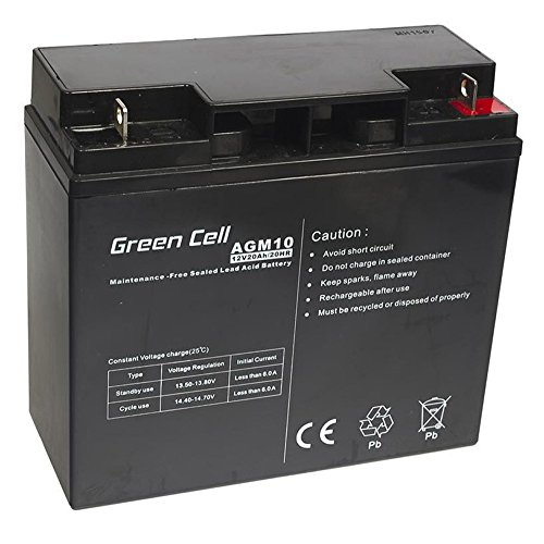 Green Cell® Akku Bleiakku Batterie AGM (12V 20Ah VRLA Faston F2) Zyklenfester Sealed Lead-Acid Blei Ersatzakku Solar Solarpanel Batterie Photovoltaik Versorgungsbatterie wartungsfrei Varianten