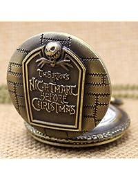 ShopyStore P49 Fashion Vintage Quartz Pocket Watch The Nightmare Before Christmas Men Women Kids N