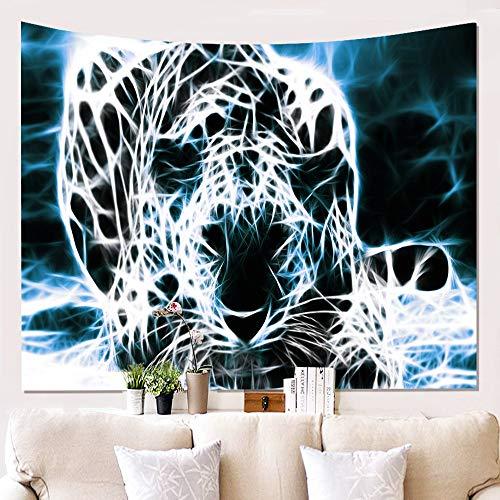 XIAOBAOZIGT Tapestry Wall Hanging,Tier Blitz Cheetah Böhmische Indischen Hippie Trippige Psychedelische Moderne Große Kunst Wandschmuck Bedruckte Stoffe Für Wohnzimmer 200 × 150 cm
