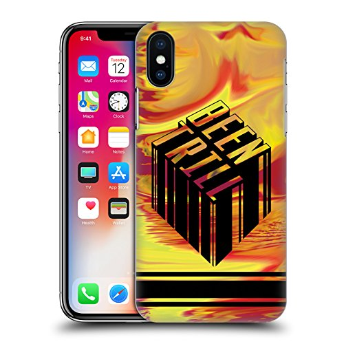 Official Been Trill Blue Tie Dye Hard Back Case for Apple iPhone X Yellow Ochre
