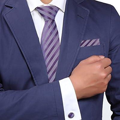 YAC1A04 Design Geschenk Mehrfarbig Gestreift Fabric Geschenk Seide Krawatte 3PT Von Y&G