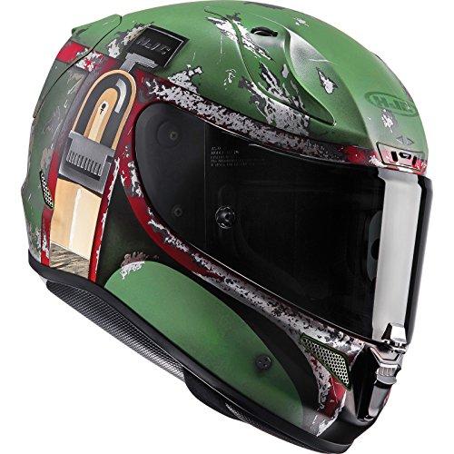 Casco Moto Hjc Star Wars Rpha 11 Boba Fett Verde (Xs , Verde)