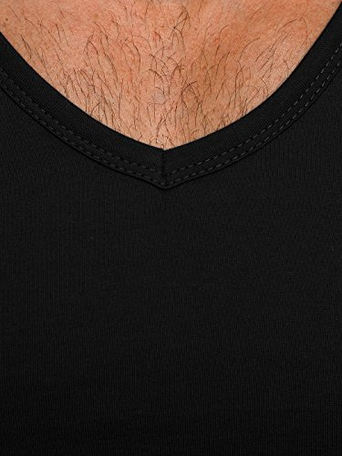 OZONEE Herren T-Shirt mit Motiv Kurzarm Rundhals Figurbetont BLACK ROCK 777 Schwarz