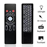KingLeChange T6 Pro 2.4Ghz Hintergrundbeleuchtete Mini Wireless Keyboard mit Touchpad Combo Air Maus Beste für Android Smart TV Box IPTV Apple TV Laptop Macbook PC HTPC