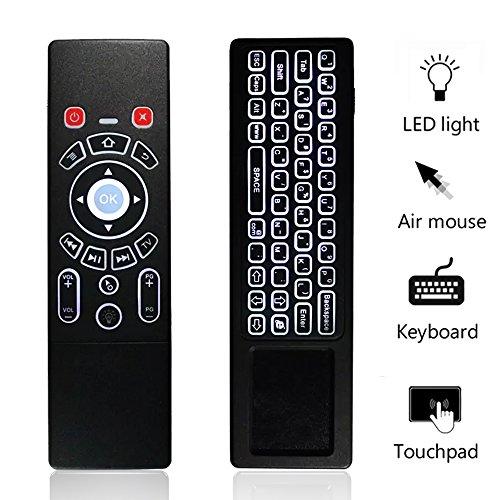 KingLeChange T6 Pro 2.4Ghz Hintergrundbeleuchtete Mini Wireless Keyboard mit Touchpad Combo Air Maus Beste für Android Smart TV Box IPTV Apple TV Laptop Macbook PC HTPC
