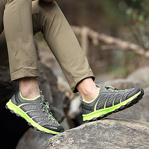 Casual Scarpe sportive uomo Anti-Slip Walking jogging Arrampicata Outdoor Fashion Sneaker GOMNEAR Grigio scuro
