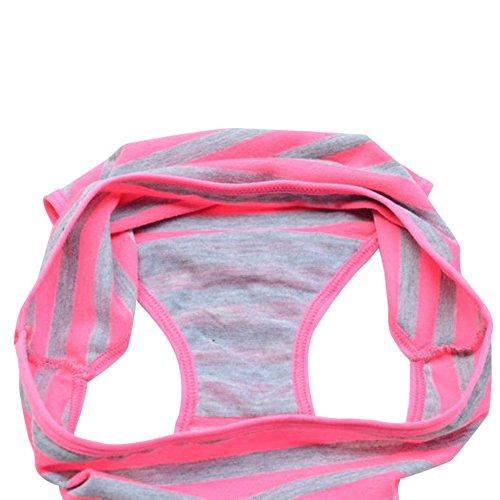Moresave Frauen Mädchen Weiche Gestreifte Push-Up BH Set Süßigkeit Farben Unterwäsche Anzüge Rosa