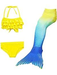 Lo mejor niña sirenas Bikini Disfraz sirena Bañador Badeanzüge Tankini