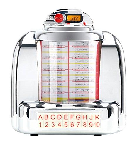 Beatfoxx Nostalgia Tisch-Jukebox (Mini Stereo Anlage, 40er/50er Jahre Retro Design, Bluetooth Lautsprecher, USB, SD und Radio)