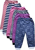 NammaBaby Cotton Pajama Pant with Rib for Infants (Multicolour, 2-3 Years) - Set of 6