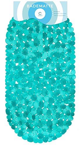 Circul Badewannenmatte 70 x 35 cm türkis transparent