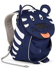 Affenzahn Kinderrucksack mit Brustgurt für 1-3 jährige Jungen und Mädchen im Kindergarten oder Kita der kleine Freund Toni Tiger - blau