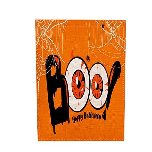 Myspace 2019 Neueste Dekoration für Halloween Saisonale Garten Fahnen Doppelseitige Outdoor-Feiertage Rasen Yard Flags (Familie Holloween Kostüm)