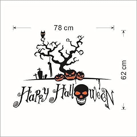 halloween - kürbis schädel kinder schlafzimmerwand wasserdicht papier entfernt werden können,