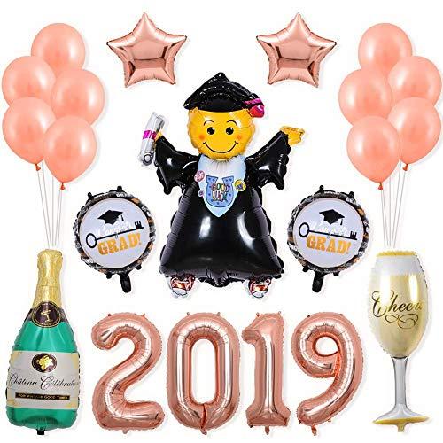 Carvevt 2019 Palloncini Festaiolo Dottore Smiley Decorazioni per Feste Forma Unica Lattice Stagnola Palloncini per Laurea Cerimonia, Compleanno, Pasqua, Natale