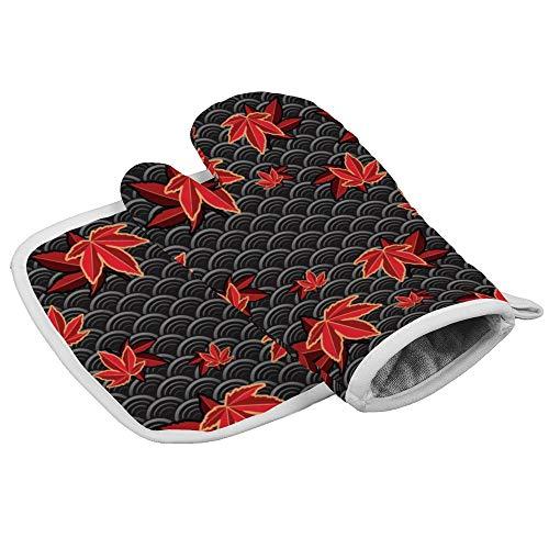 Desconocido Novelty Glove - Guantes de algodón para Horno Impermeables, Resistentes al Calor, diseño...