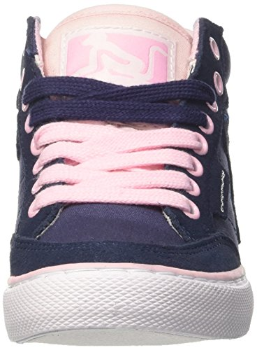 DrunknMunky Boston Classic Mid, Chaussures de Tennis femme Blu (Navy Light/Pink)
