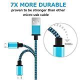 Micro USB Cable Yosou USB Charger Cable[3 Pack 1m] Nylon Braided USB Cable High Speed Fast Android Charging Cables for Samsung, Nexus, LG, Motorola, Nokia and More-Blue, Green, Orange Bild 3