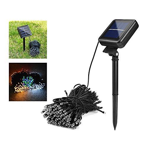 Led Wasserdichte Außenbeleuchtung Rasen Lampen Flexible Kette Led Solarlicht Für Gartendekoration Beleuchtung Warmweiß 50 Lichter