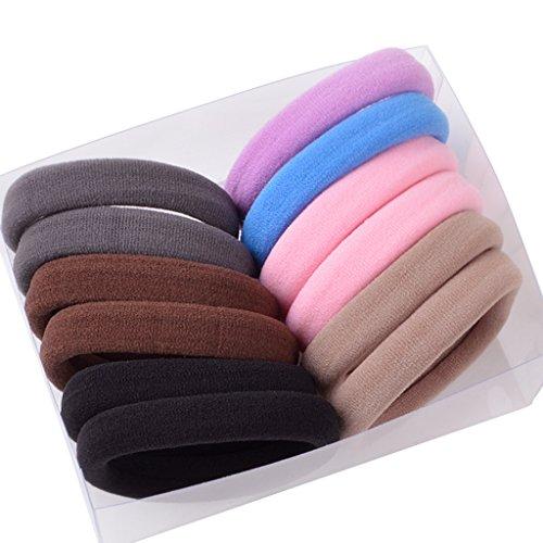 12 pièces Couleurs assorties tête corde Corée Pas de caoutchouc caoutchouc ( Couleur : 3 )