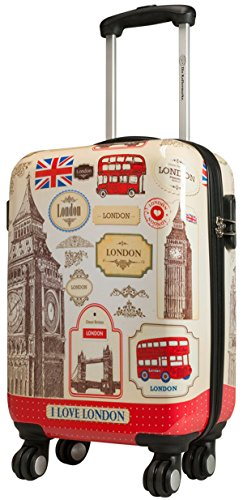 London 3 Taille XL Carbon/rigide Valise à roulettes en polycarbonate Case FA. Valise bowatex
