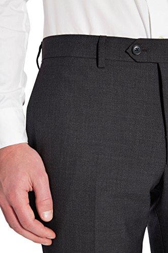 next Homme Coupe Ajustée Costume 100% Laine: Pantalon Gris